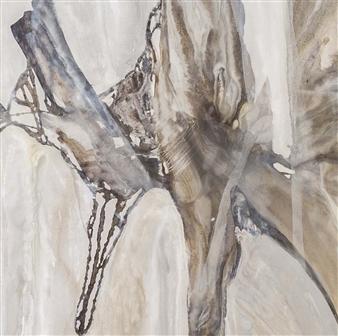 Graciela Garza - Mistery Dance Detail Acrylic & Oil on Canvas, Paintings