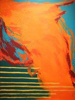 Orianna Montenegro - Recapture IV Acrylic & Oil on Canvas, Paintings
