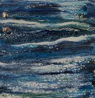Patti Hodder - Montauk At Night Acrylic on Canvas, Paintings