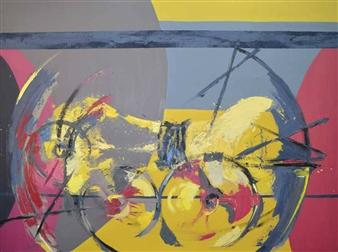 Cristina Prieto Crespi - Momento Estático Oil on Canvas, Paintings