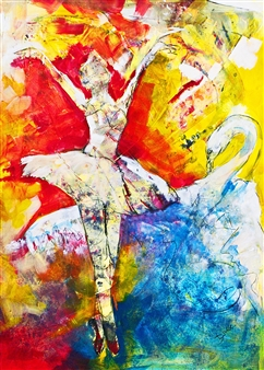 Diana Linsse - Dance Mixed Media on Canvas, Mixed Media