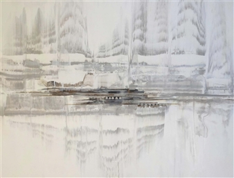 Graciela Garza - Vibration Acrylic on Canvas, Paintings