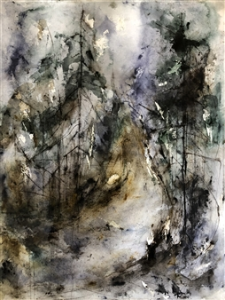 Dana Ingesson - Where the River Flow Watercolor on Paper, Paintings