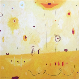 Barbara Demsar - Good Morning Sun Acrylic, Collage & Mixed Media on Canvas, Mixed Media
