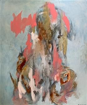 Alissa Van Atta - Listening Deeply Again Acrylic on Canvas, Paintings
