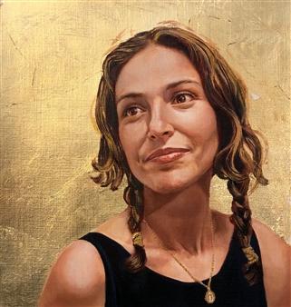 Mehrnosh Kaecker - Sarah Oil on paper, Paintings