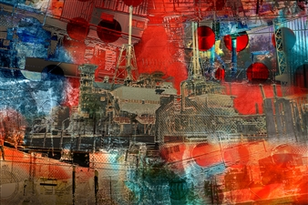 Frédérique Négrié - Incandescence 1 Digital Painting on Aluminum, Digital Art