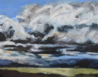 Rebecca Rath - Nature Sublime I Oil on Canvas, Paintings