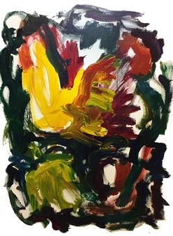 Susan Marx - Motion With Yellow Acrylic on Canvas, Paintings