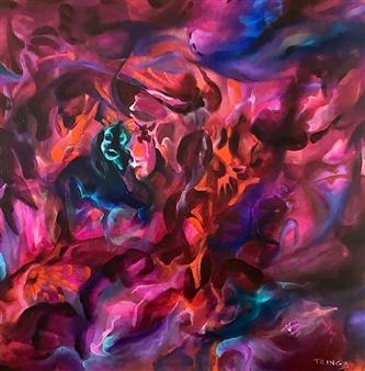 Tringa Khadija - Vehemence Oil on Canvas, Paintings