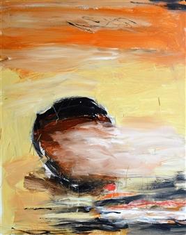 Clea von Döhren - New Moon Acrylic on Canvas, Paintings