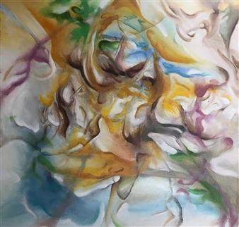 Tringa Khadija - Expectation Oil on Canvas, Paintings