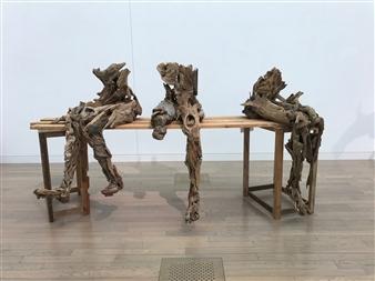Akemi Fujita - Pool of Bethesda Wood, Sculpture