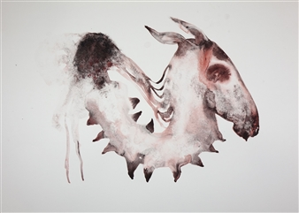 Kate Walters - Horse Memory Watercolor on Paper, Paintings