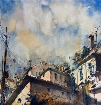 Alejandro Miras - Azoteas Watercolor, Paintings
