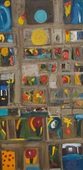 Ana Ingham - Wild Garden 2 Oil on Cardboard, Paintings