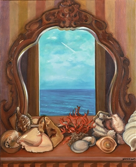 Garese - Journey Through a Mirror Oil on Canvas, Paintings