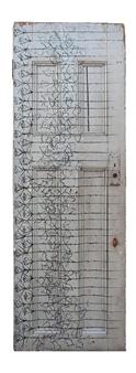 Vincent Donato - Door 3 Gouache on Re-claimed Door, Mixed Media