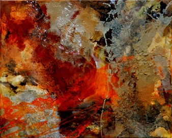 Ingrid Strecker - Magic Places VI Acrylic on Sand, Paintings