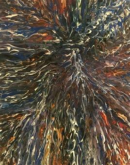 Deeya Mirchandani - Blue Sleeves Acrylic on Canvas, Paintings