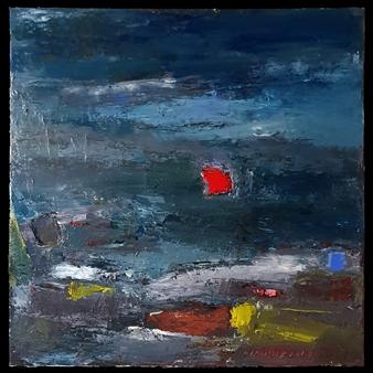 Ludwig Mannhalter - No. 9 Acrylic, Oil & Mixed Media on Canvas, Mixed Media