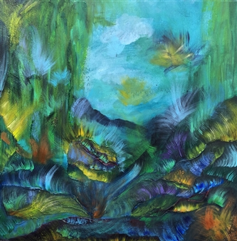 Sal Ponce Enrile - Glade Acrylic & Mixed Media on Canvas, Mixed Media