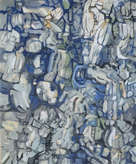 Soilart Jo-DoJoong - Knar 14 Soil on Canvas, Paintings