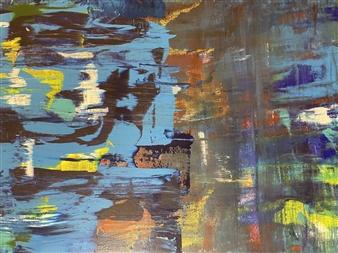 Ulrich T. Grabowski - Panic Acrylic on Canvas, Paintings