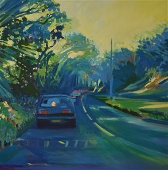 Julia Rowlands - Road to Falmouth Oil on Canvas, Paintings