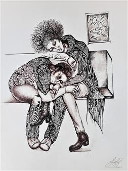 Pitanius - Kill Me or Embrace Me Pen on Paper, Drawings