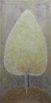 Becky Sungja Kim - Ginkgo Tree Oil on Canvas, Paintings