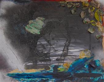 Vanessa Elaine - Deep Acrylic & Spraypaint on Canvas, Paintings