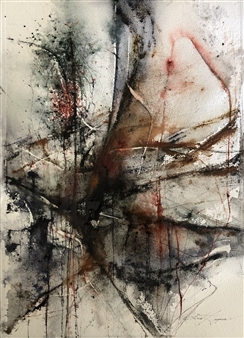 Dana Ingesson - Empty Rooms Watercolor on Paper, Paintings