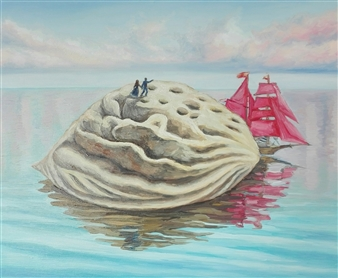 Helena Zyryanova - The Path to Dream Oil on Canvas, Paintings