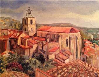 Raul Mariaca Dalence - Saint Paul  à Hyères Oil on Canvas, Paintings