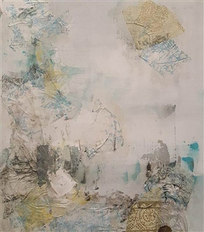 Florencia Zampieri - Bohemia #2 Acrylic and Paper on Canvas, Paintings