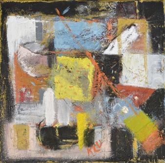 Kerstin Lundin - Opennes Oil & Mixed Media on Canvas, Mixed Media