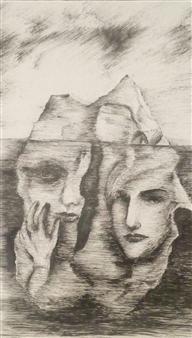 Oleg Kirnos - Iceberg Pencil on Paper, Drawings