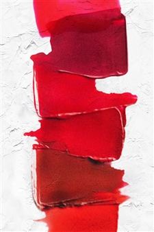 Shajeel Rehman - Red Lips Art _04 Oil on Canvas, Paintings