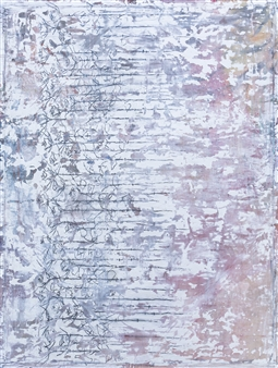 Vincent Donato - Stressed & Suppressed Mixed Media, Plaster on Vintage Drop Cloth, Mixed Media