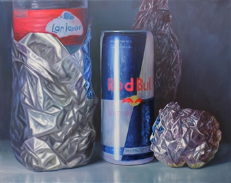 Rodolfo Regaño - Aluminum Oil on Canvas, Paintings