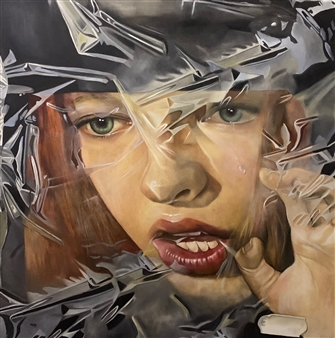 Rosana Largo Rodríguez - Woman Paints Woman,International Day of Woman Oil on Canvas, Paintings