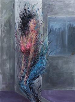 Jian Jun An - Horror Acrylic on Canvas, Paintings