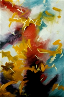 Eric Carter - Abstract 63 Oil on Canvas, Paintings