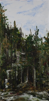 Anne E Chamness - Forest View II Acrylic on Canvas, Paintings