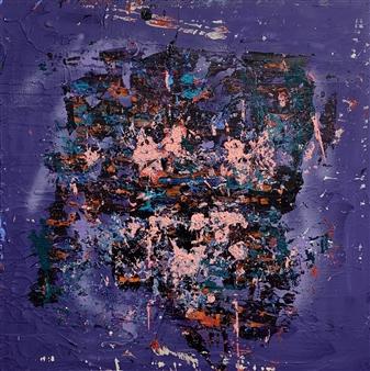 Tyler Santangelo - Cloud In My Mind Acrylic & Spraypaint on Canvas, Paintings
