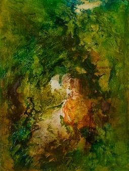 The KonKons - Enchanted Garden Mixed Media on Canvas, Mixed Media