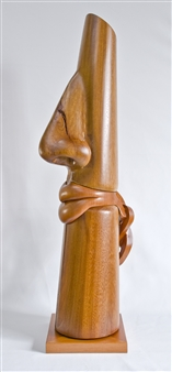Patricia Olguín - Untie My Bonbon: Colored Lips, view 2 Almond & Mahogany, Sculpture