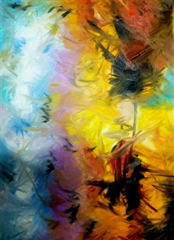 Eric Carter - Abstract 64 Oil on Canvas, Paintings