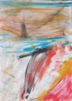 Maurizio D'Andrea - Lighthouse Acrylic on Canvas, Paintings